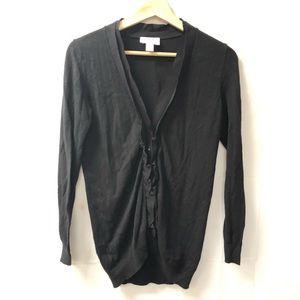 LOFT Small petites SP Black cardigan sweater